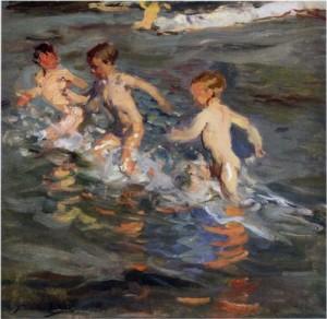 ילדים בים